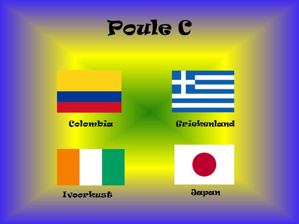 Poule C Colombia Griekenland Japan Ivoorkust