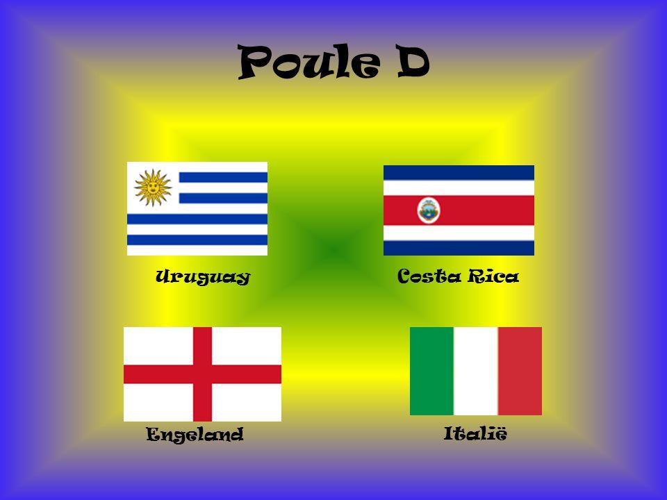 Poule D Uruguay Costa Rica Engeland Italië