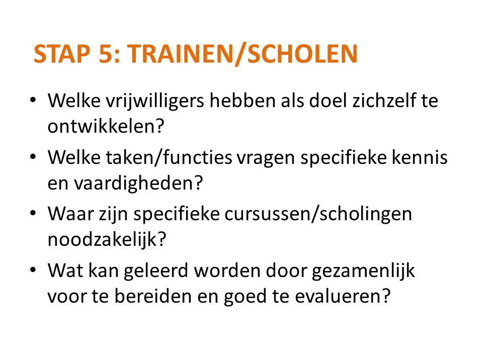 Stap 5: Trainen/scholen