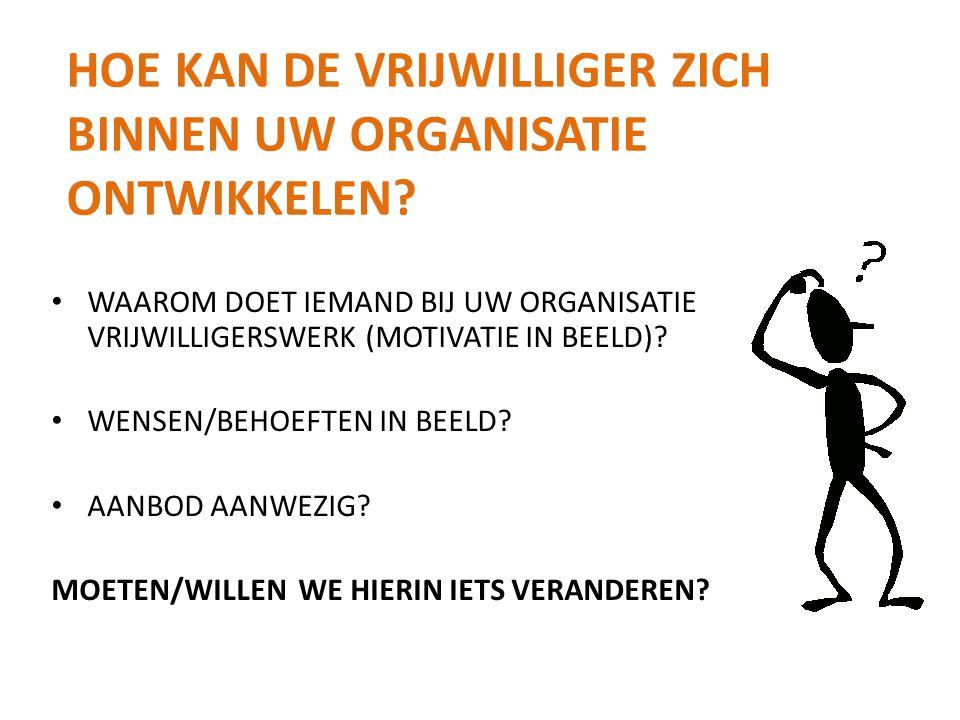 hoe kan de vrijwilliger zich binnen uw organisatie ontwikkelen