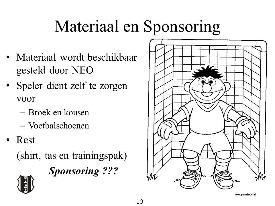 Materiaal en Sponsoring