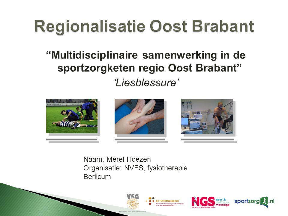 Regionalisatie Oost Brabant