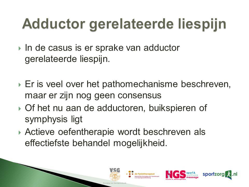 Adductor gerelateerde liespijn