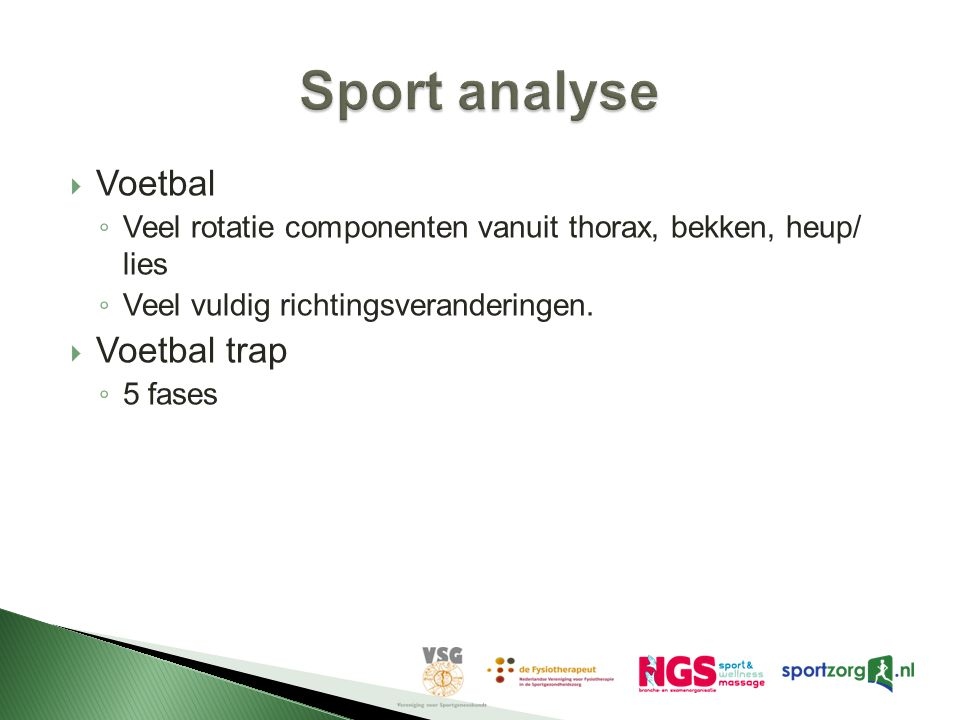 Sport analyse Voetbal Voetbal trap