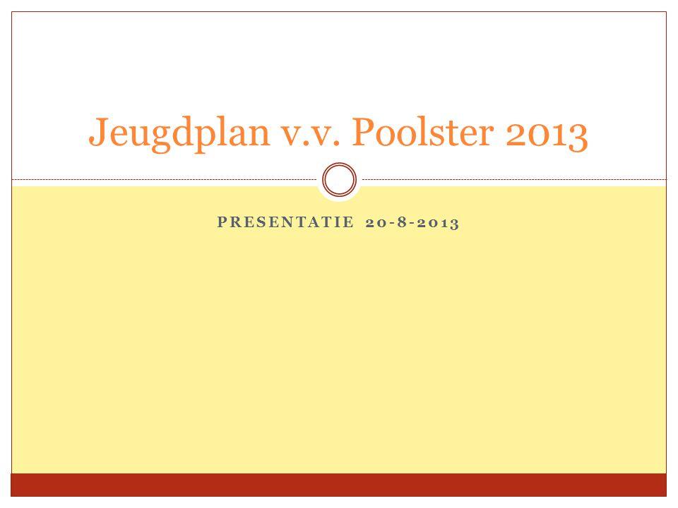 Jeugdplan v.v. Poolster 2013 Presentatie 20-8-2013
