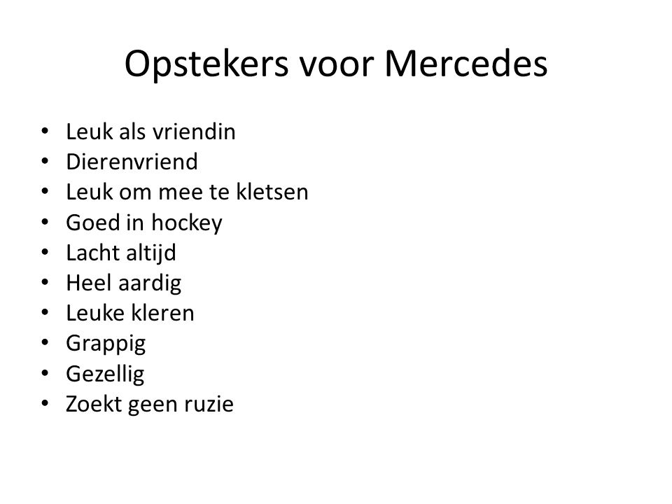 Opstekers voor Mercedes