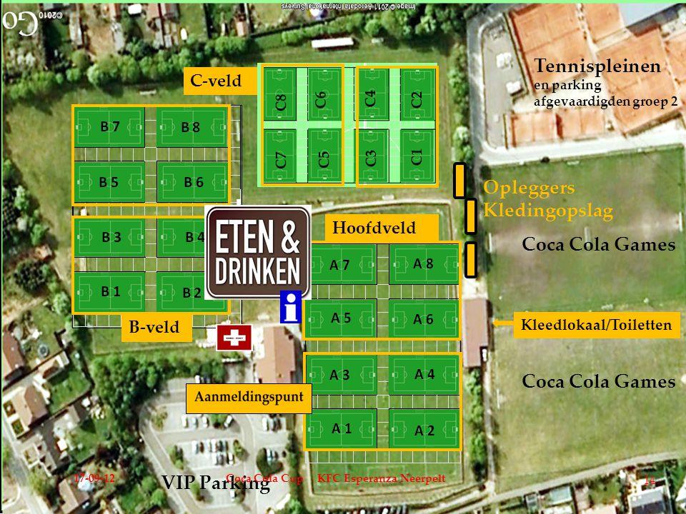 Tennispleinen Opleggers Kledingopslag Coca Cola Games VIP Parking
