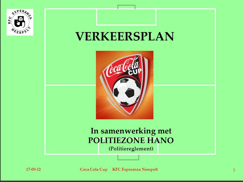 VERKEERSPLAN In samenwerking met POLITIEZONE HANO (Politiereglement)
