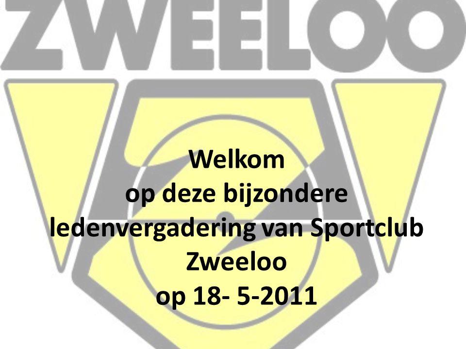 Welkom op deze bijzondere ledenvergadering van Sportclub Zweeloo op 18- 5-2011