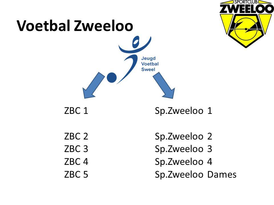 Voetbal Zweeloo ZBC 1 ZBC 2 ZBC 3 ZBC 4 ZBC 5 Sp.Zweeloo 1