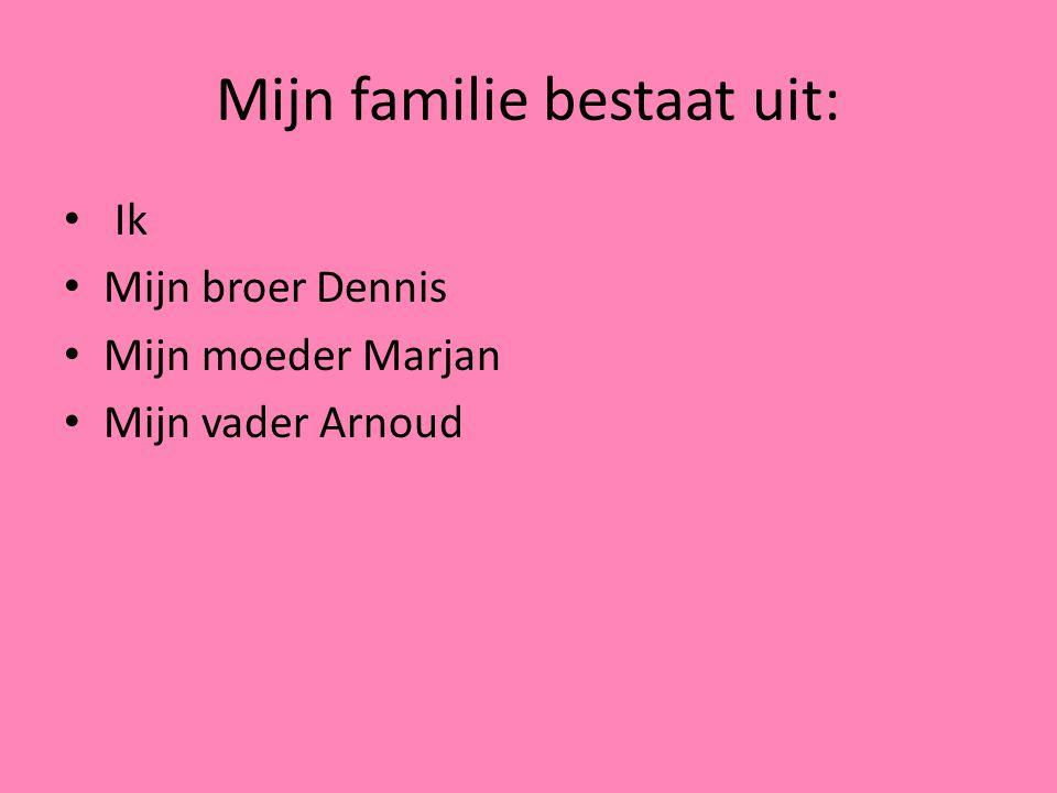Mijn familie bestaat uit:
