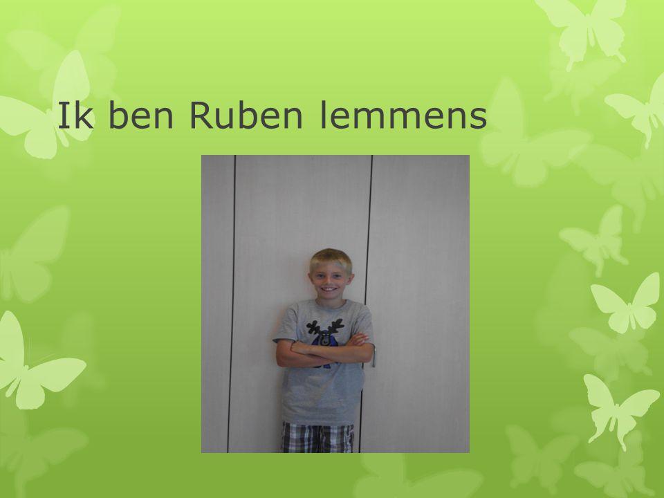 Ik ben Ruben lemmens