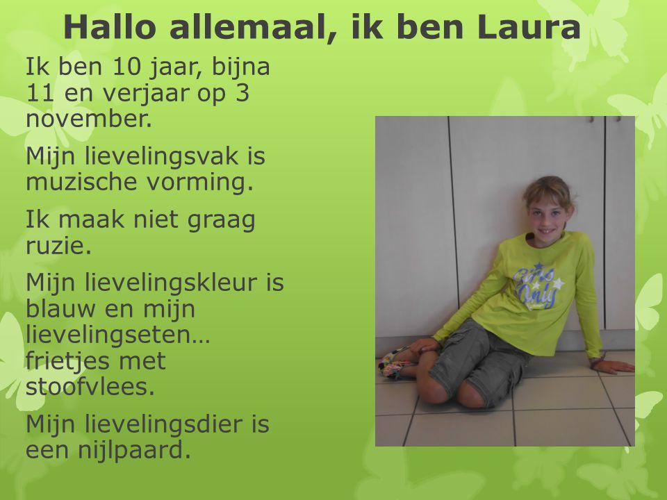 Hallo allemaal, ik ben Laura