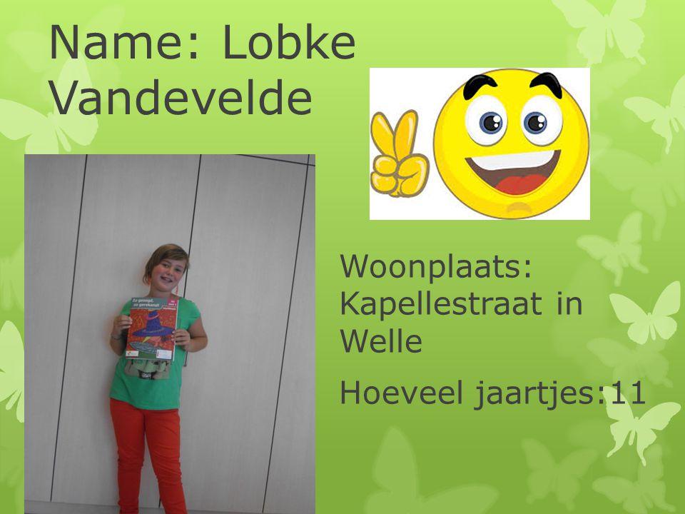 Name: Lobke Vandevelde