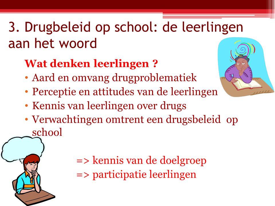 3. Drugbeleid op school: de leerlingen aan het woord