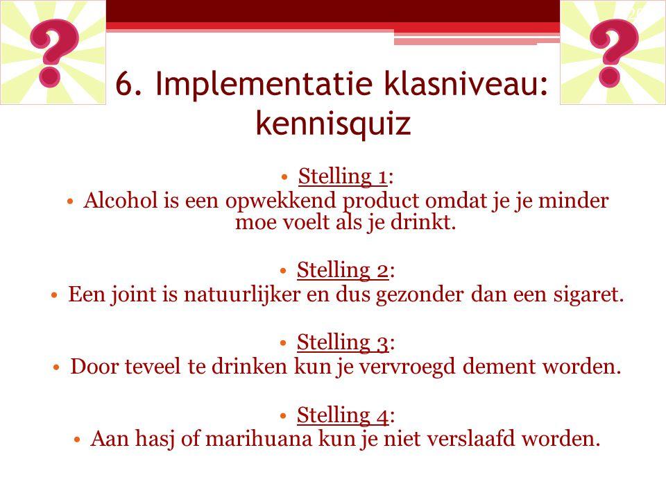 6. Implementatie klasniveau: kennisquiz