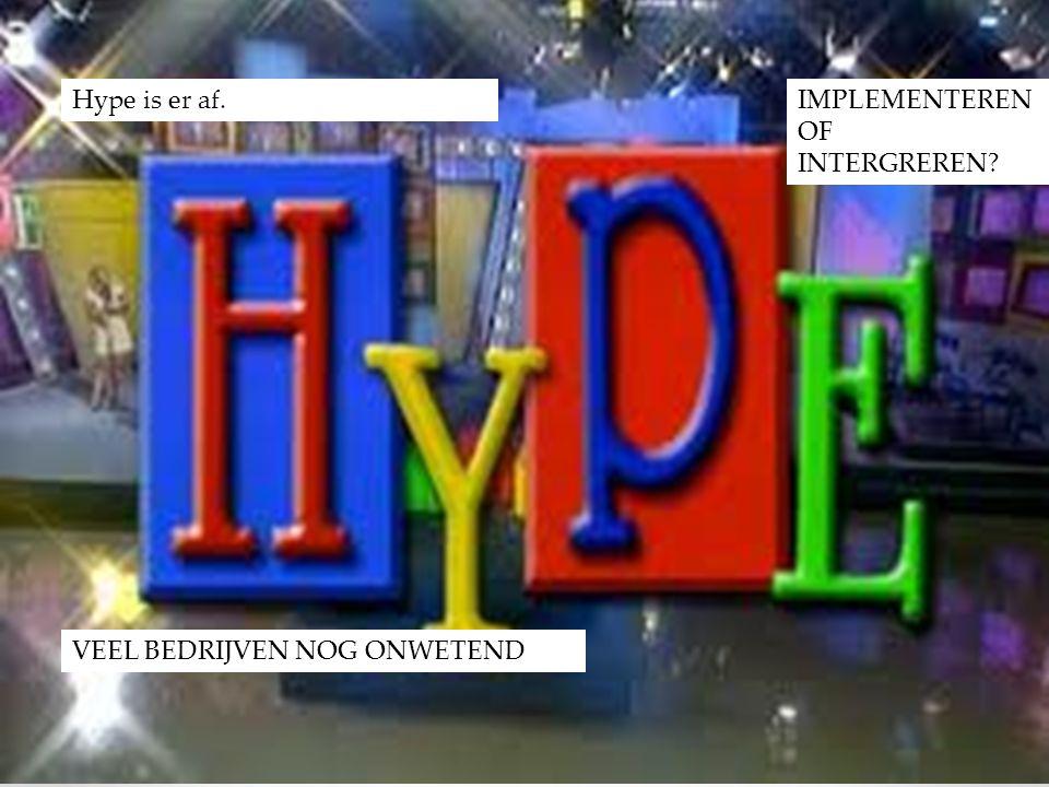 Hype is er af. IMPLEMENTEREN OF INTERGREREN VEEL BEDRIJVEN NOG ONWETEND