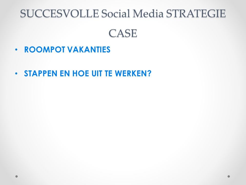 SUCCESVOLLE Social Media STRATEGIE CASE