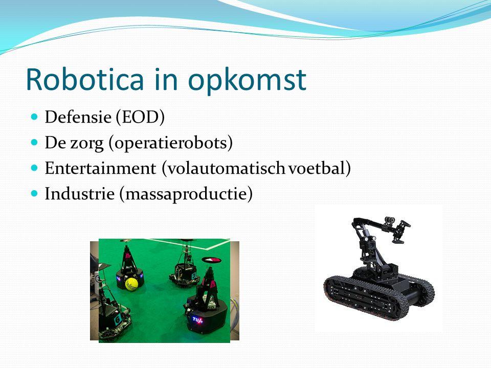 Robotica in opkomst Defensie (EOD) De zorg (operatierobots)