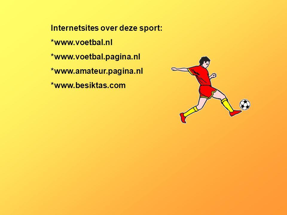Internetsites over deze sport: *www.voetbal.nl *www.voetbal.pagina.nl