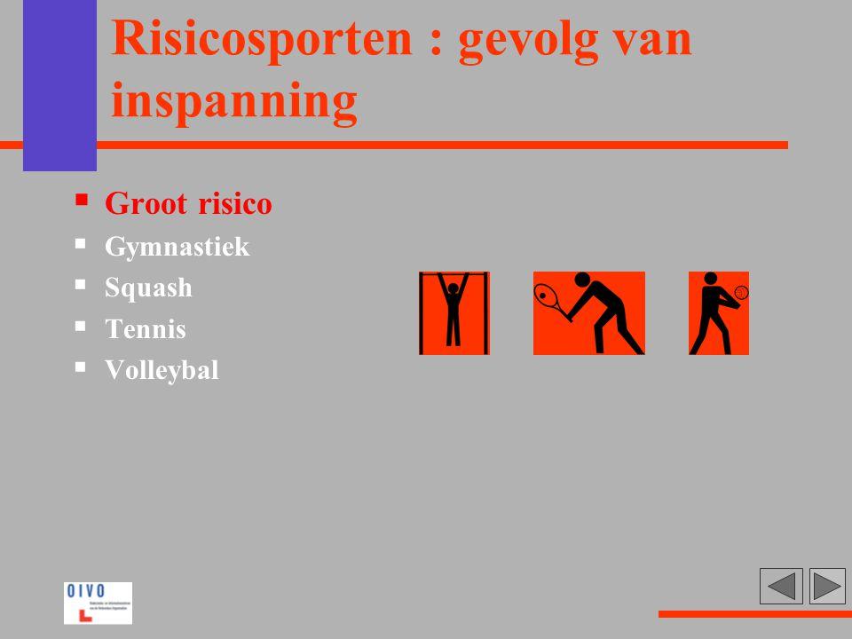 Risicosporten : gevolg van inspanning