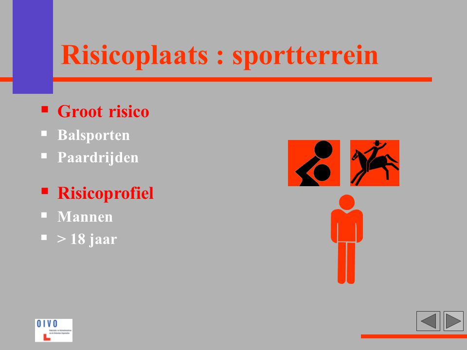 Risicoplaats : sportterrein