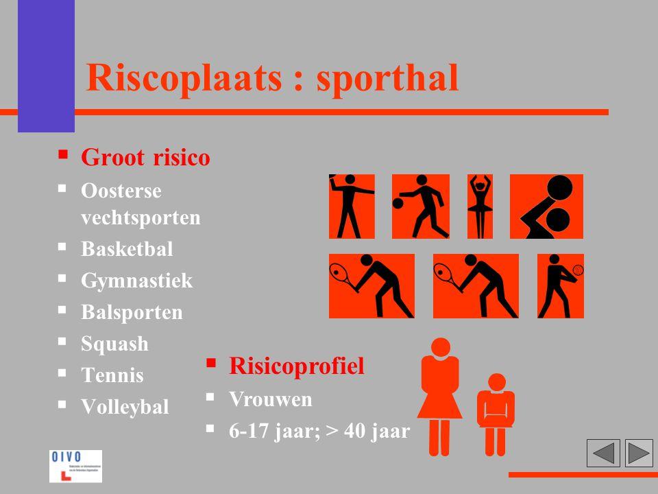 Riscoplaats : sporthal