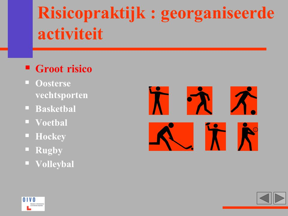 Risicopraktijk : georganiseerde activiteit