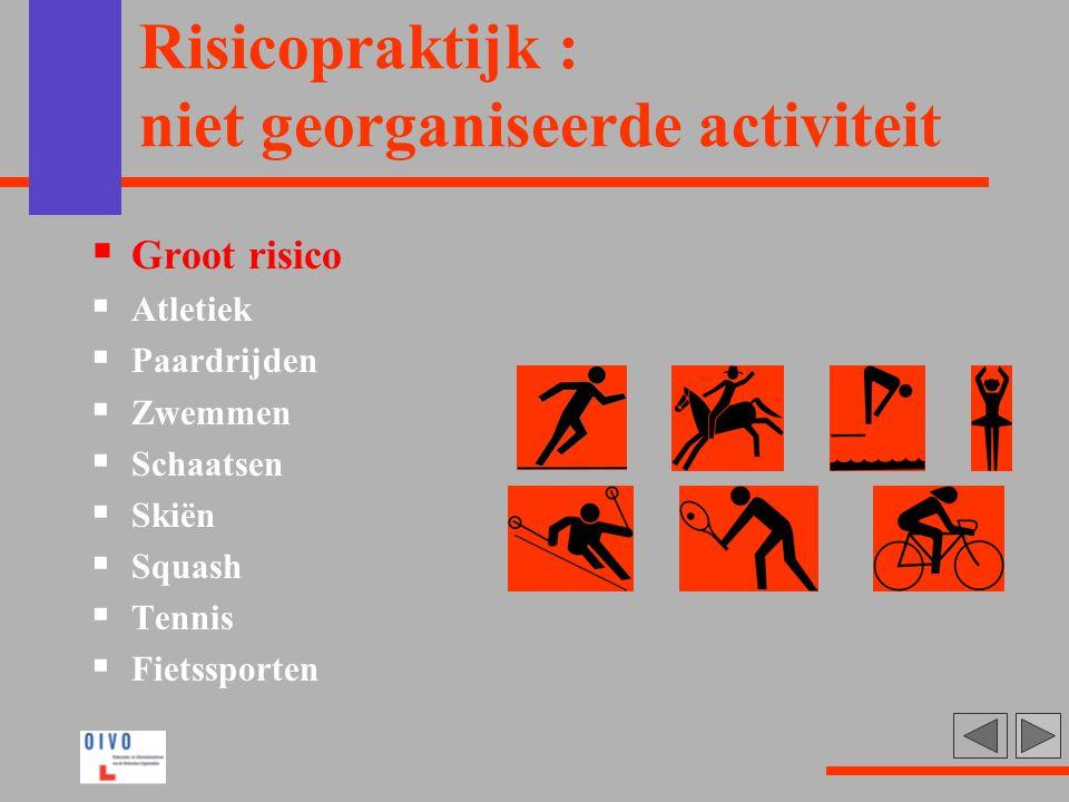 Risicopraktijk : niet georganiseerde activiteit