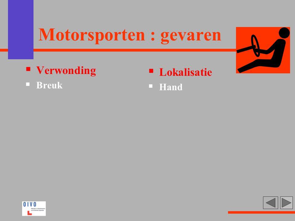 Motorsporten : gevaren