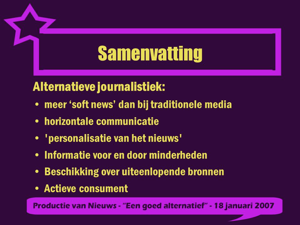 Samenvatting Alternatieve journalistiek: