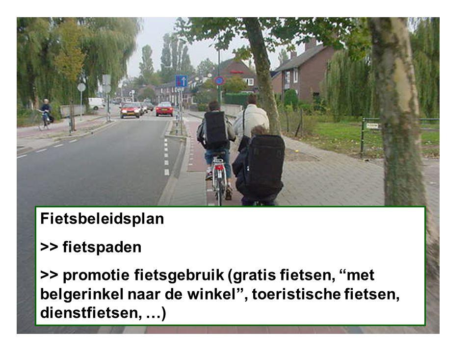 Fietsbeleidsplan >> fietspaden