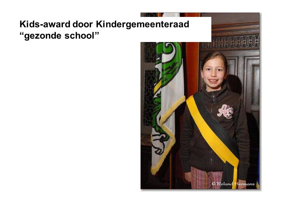 Kids-award door Kindergemeenteraad gezonde school
