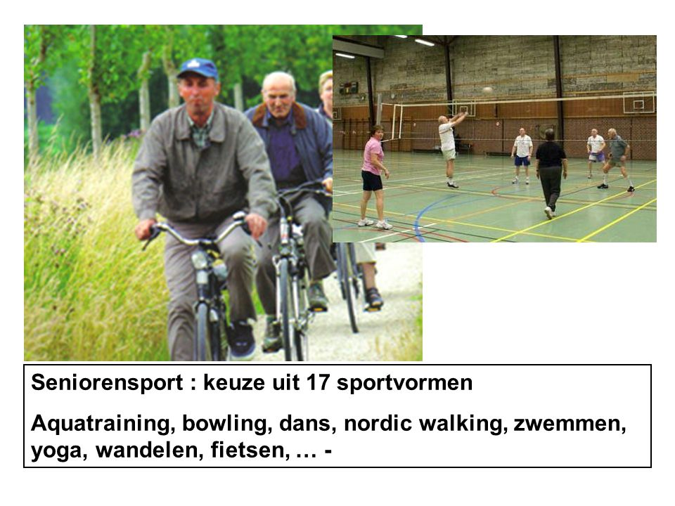 Seniorensport : keuze uit 17 sportvormen