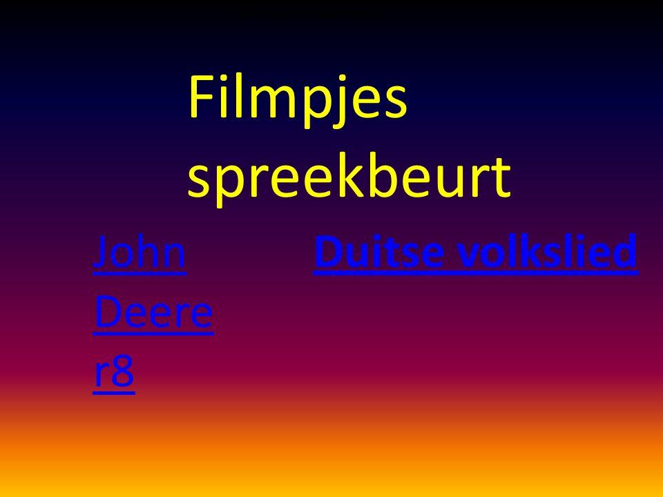 Filmpjes spreekbeurt John Deere r8 Duitse volkslied
