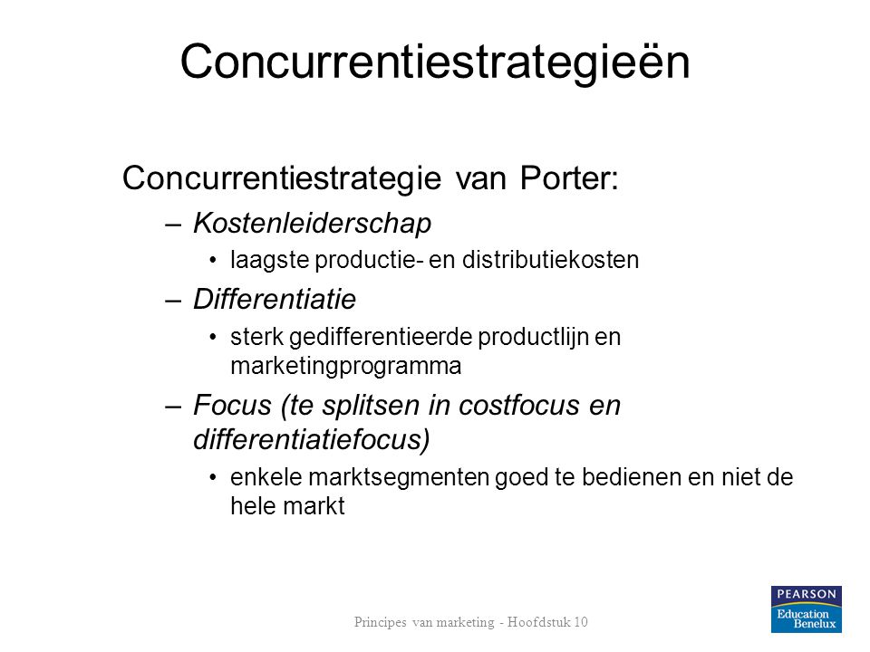 Concurrentiestrategieën