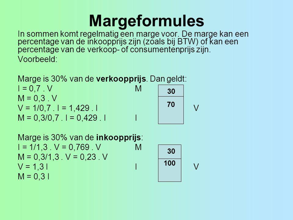 Margeformules