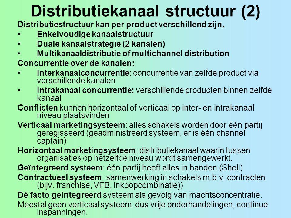 Distributiekanaal structuur (2)