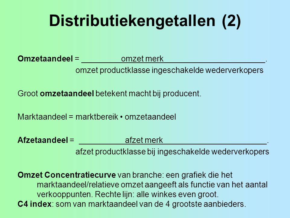 Distributiekengetallen (2)