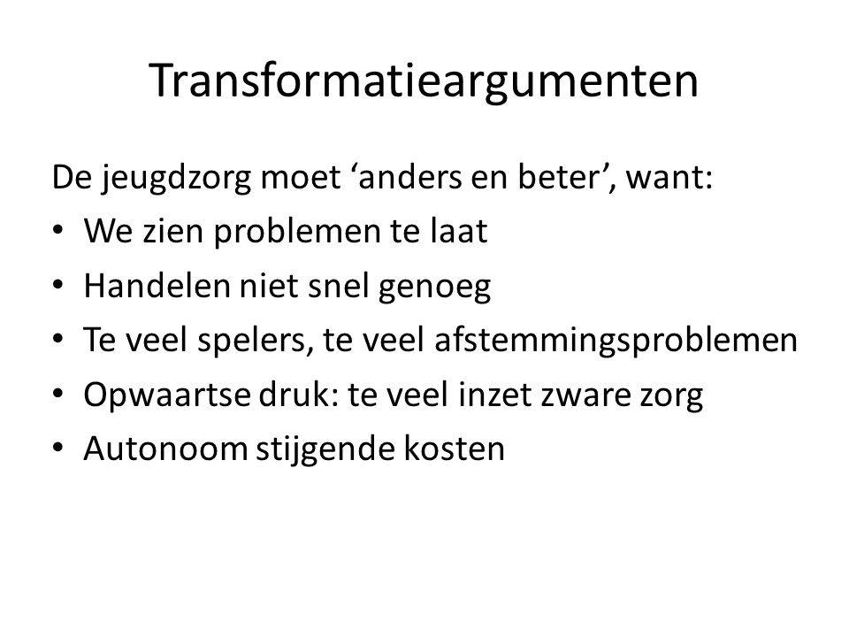 Transformatieargumenten