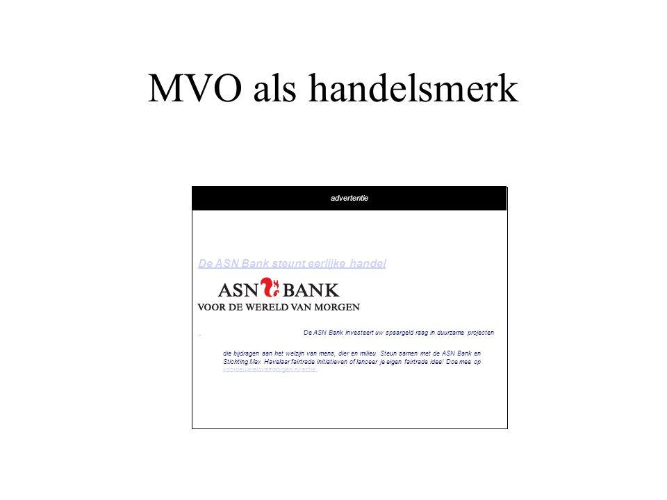 MVO als handelsmerk De ASN Bank steunt eerlijke handel advertentie
