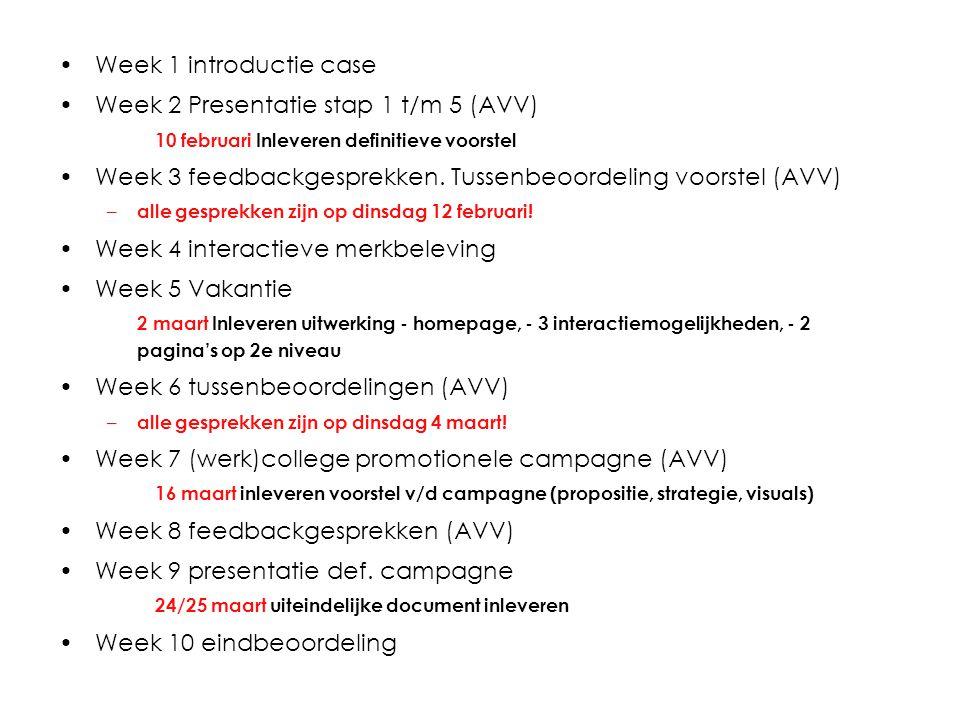 Week 2 Presentatie stap 1 t/m 5 (AVV)