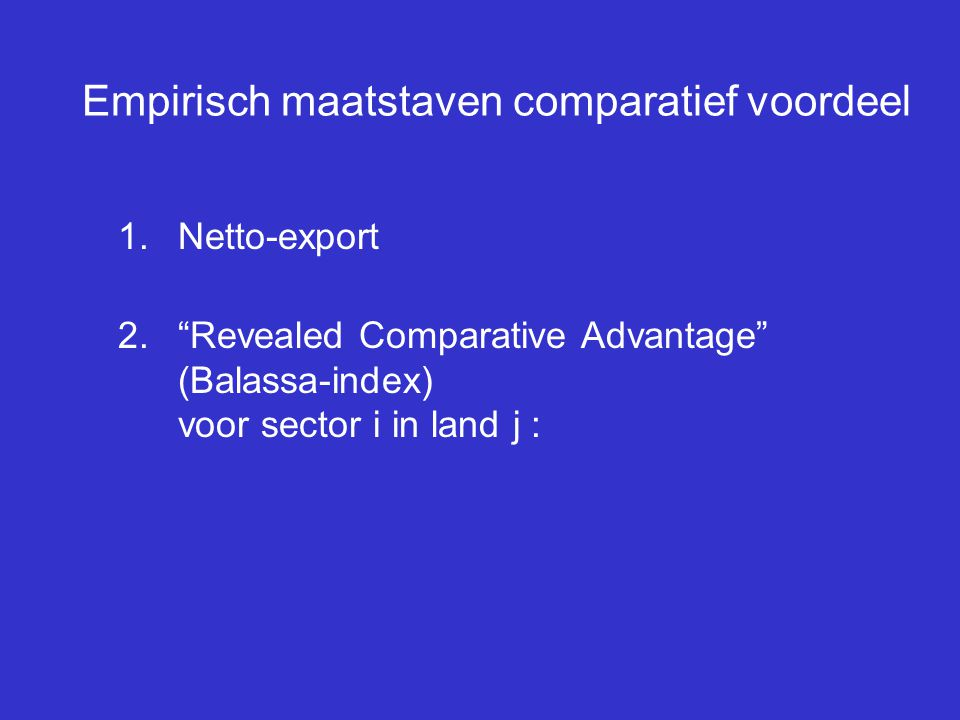 Empirisch maatstaven comparatief voordeel