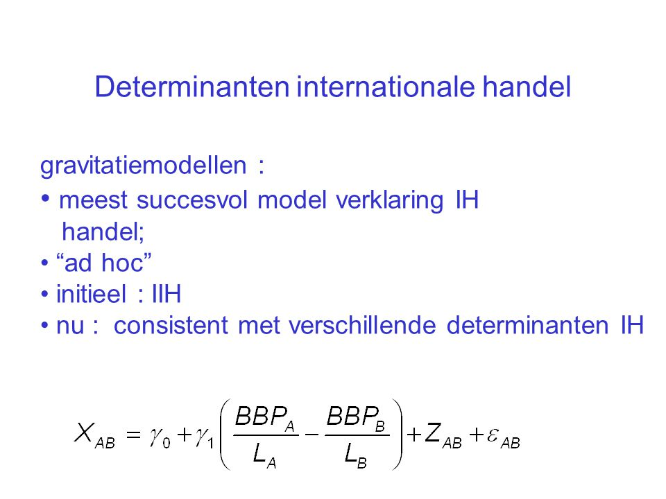 Determinanten internationale handel