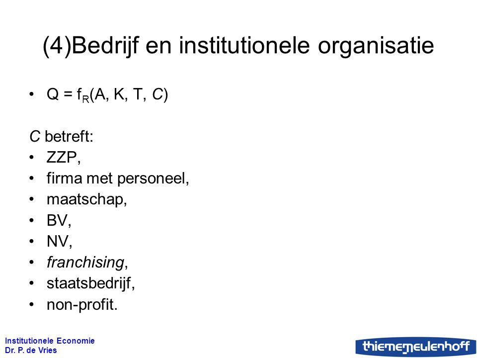 (4)Bedrijf en institutionele organisatie