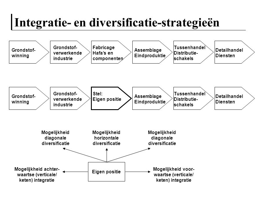 Integratie- en diversificatie-strategieën