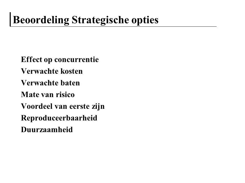 Beoordeling Strategische opties