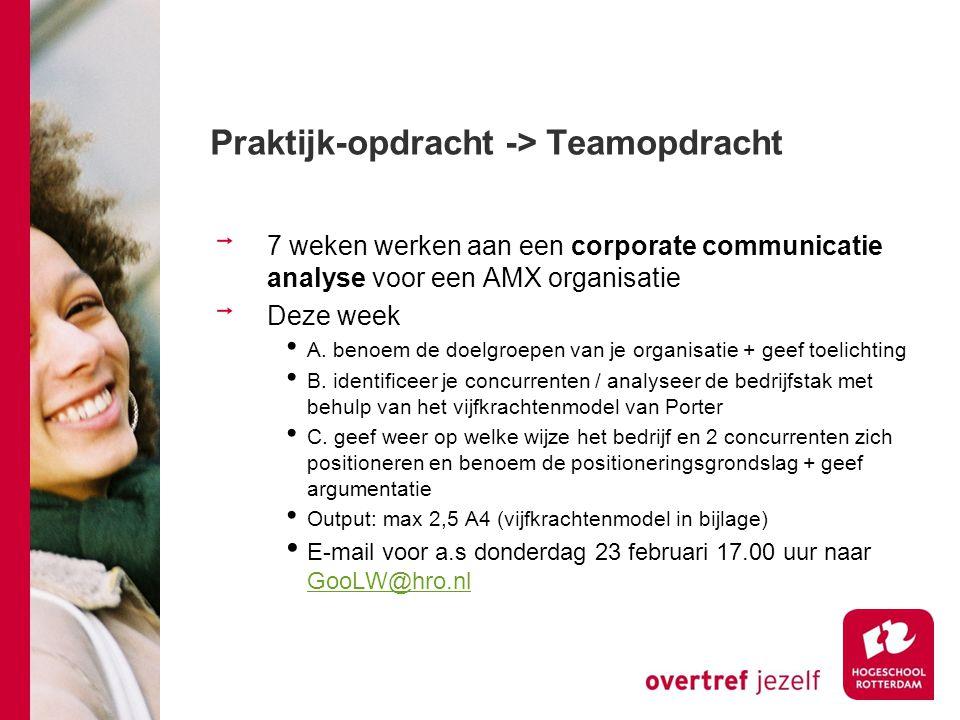 Praktijk-opdracht -> Teamopdracht