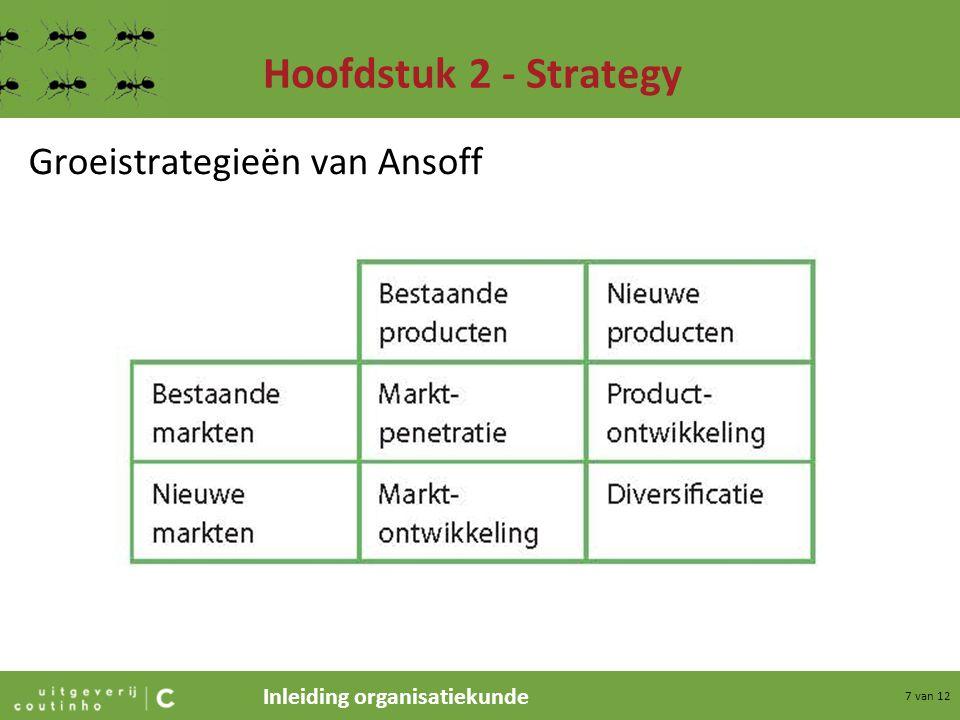 Hoofdstuk 2 - Strategy Groeistrategieën van Ansoff