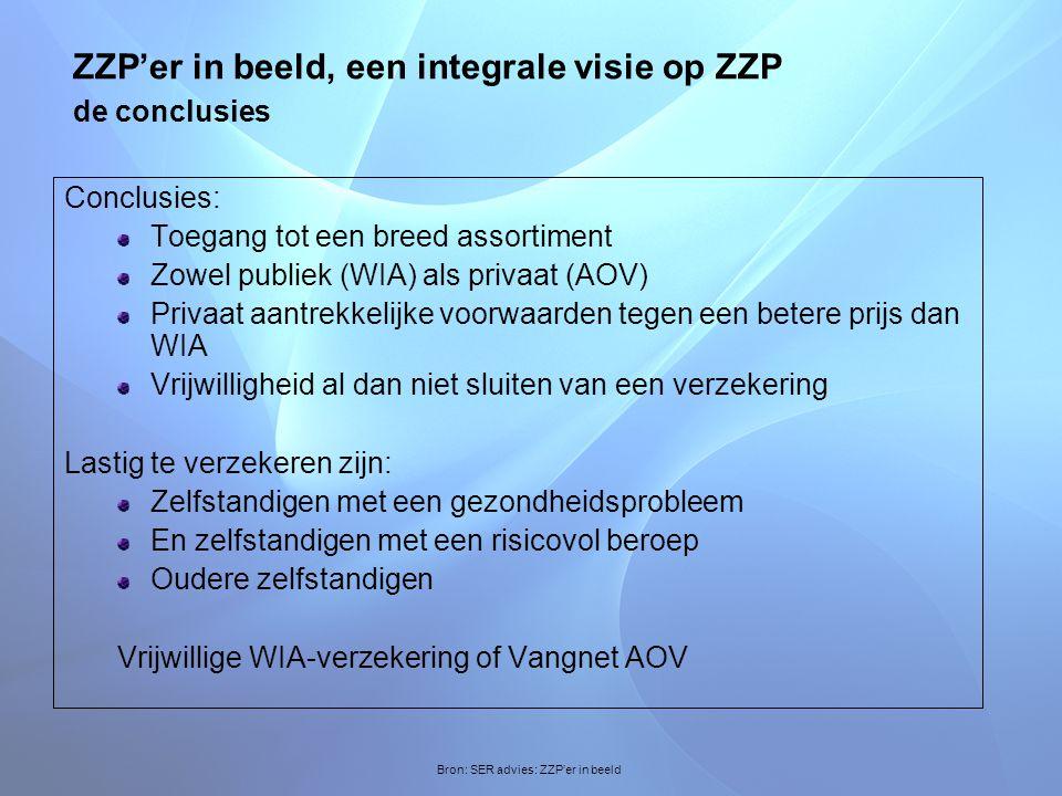 ZZP'er in beeld, een integrale visie op ZZP de conclusies